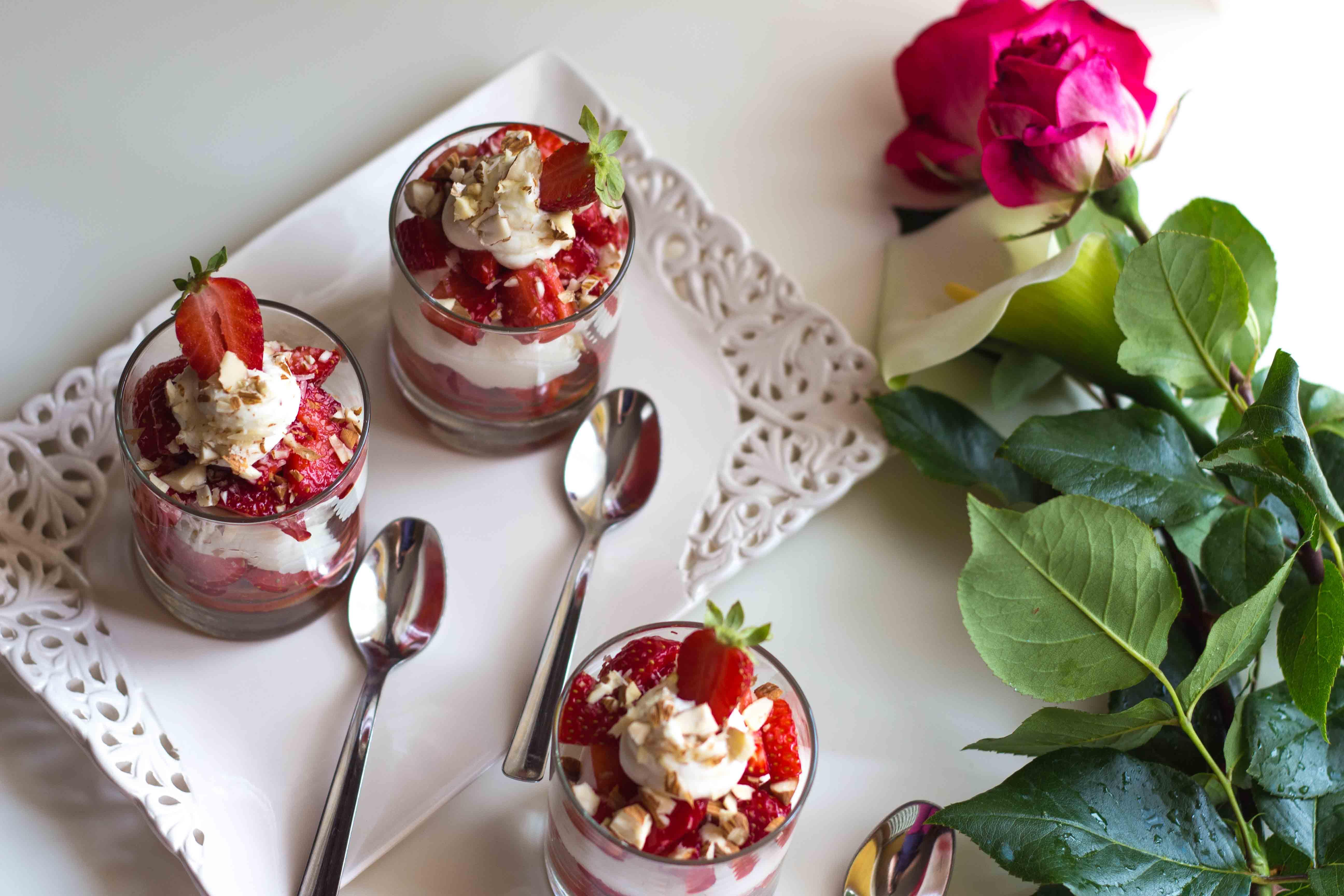 mousse yogurt fragole