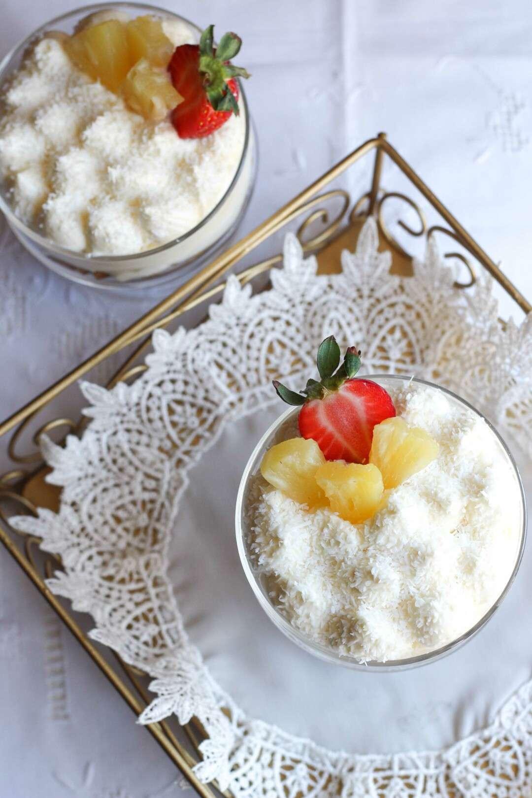 cheesecake trifle al lemon curd