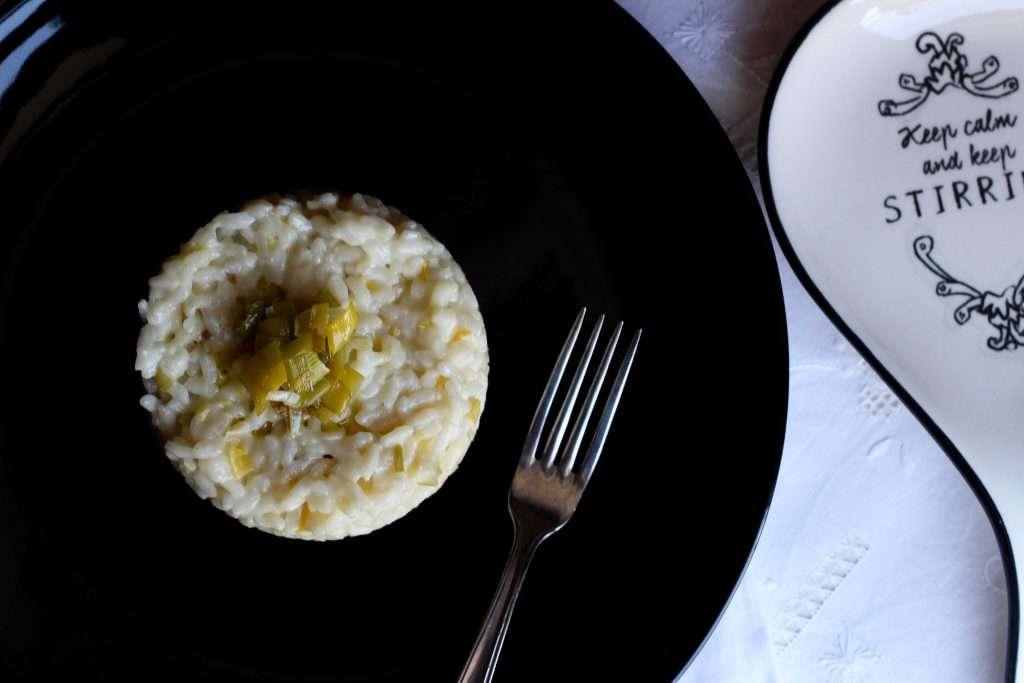 risotto gorgonzola e porri