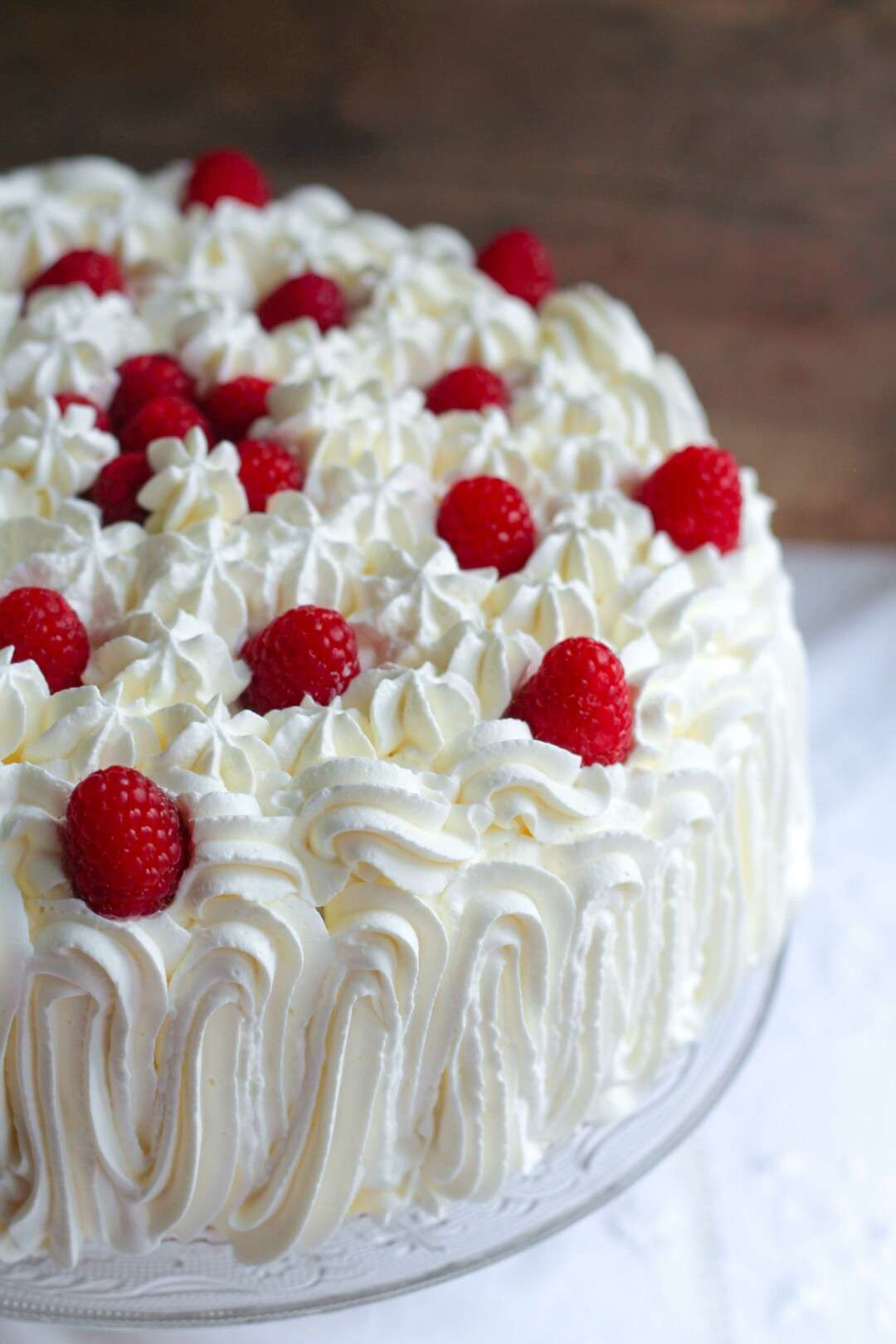 red fruits decorated cake