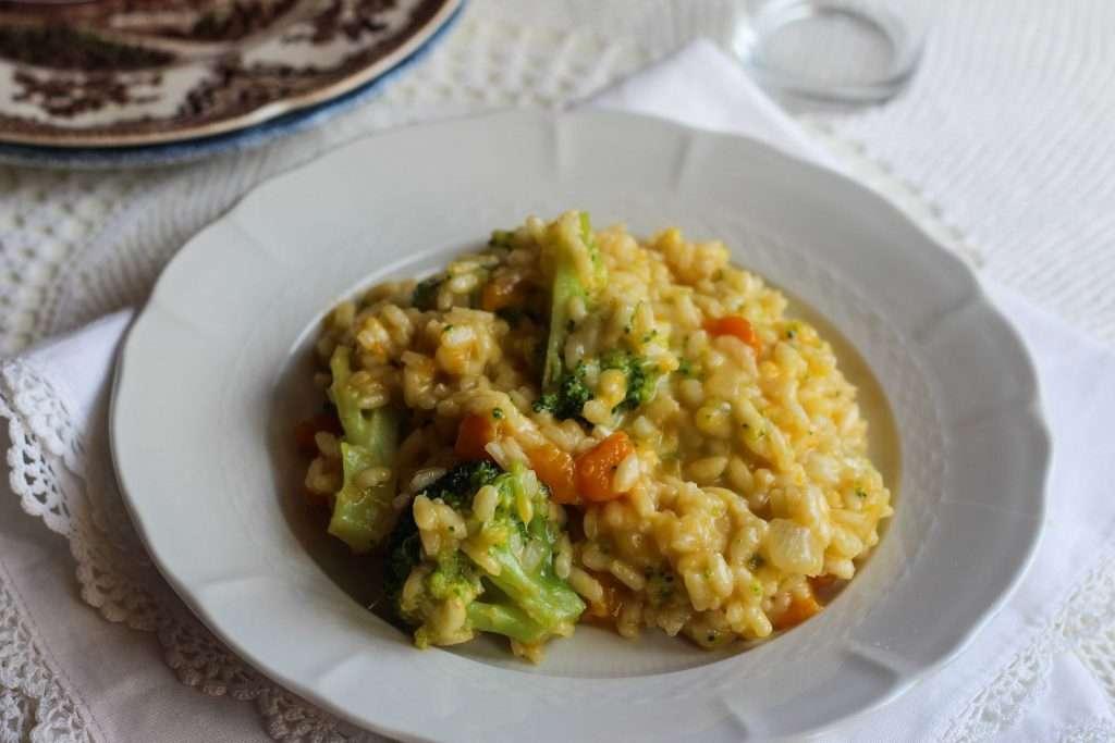 ricetta del risotto con zucca e broccolo verde