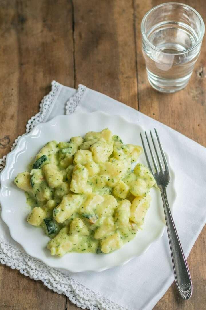 la ricette degli gnocchi con crema di zucchine