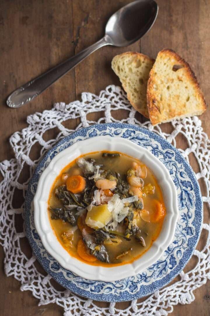la ricetta del minestrone di verdure autunnale