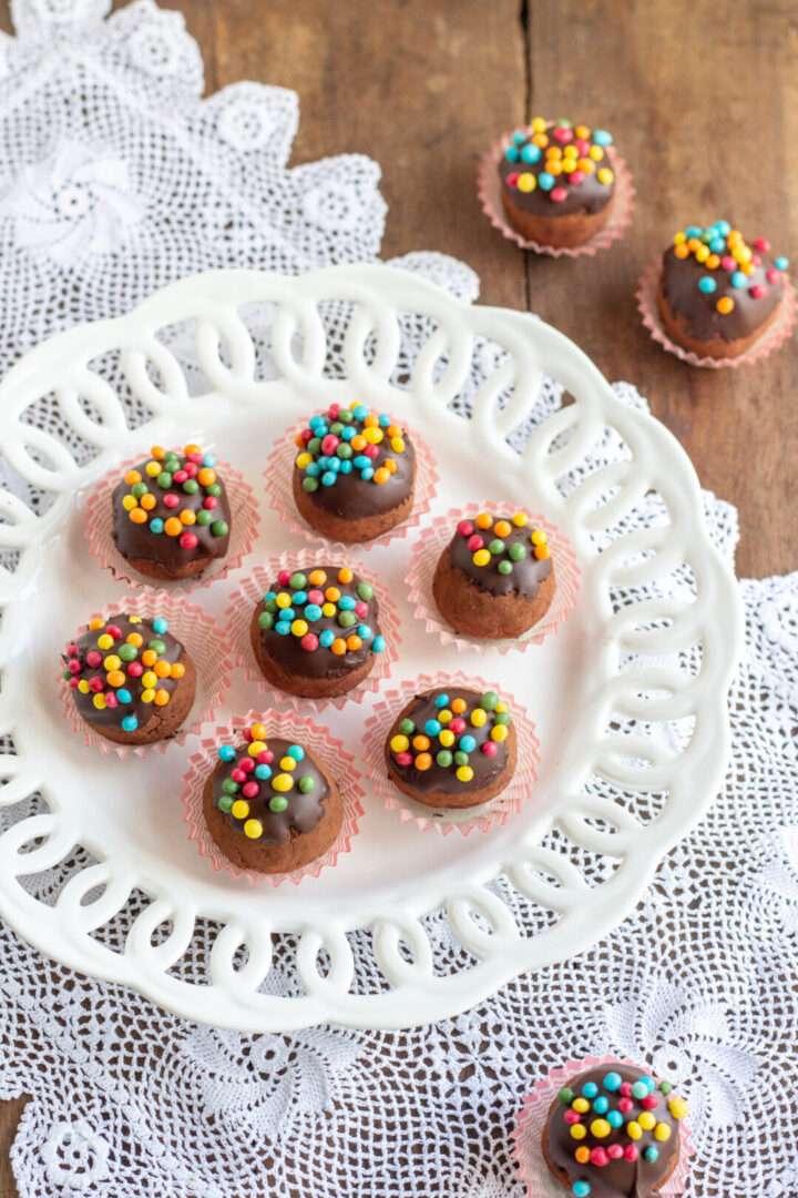 la ricetta dei tartufi dolci fatti con il pandoro