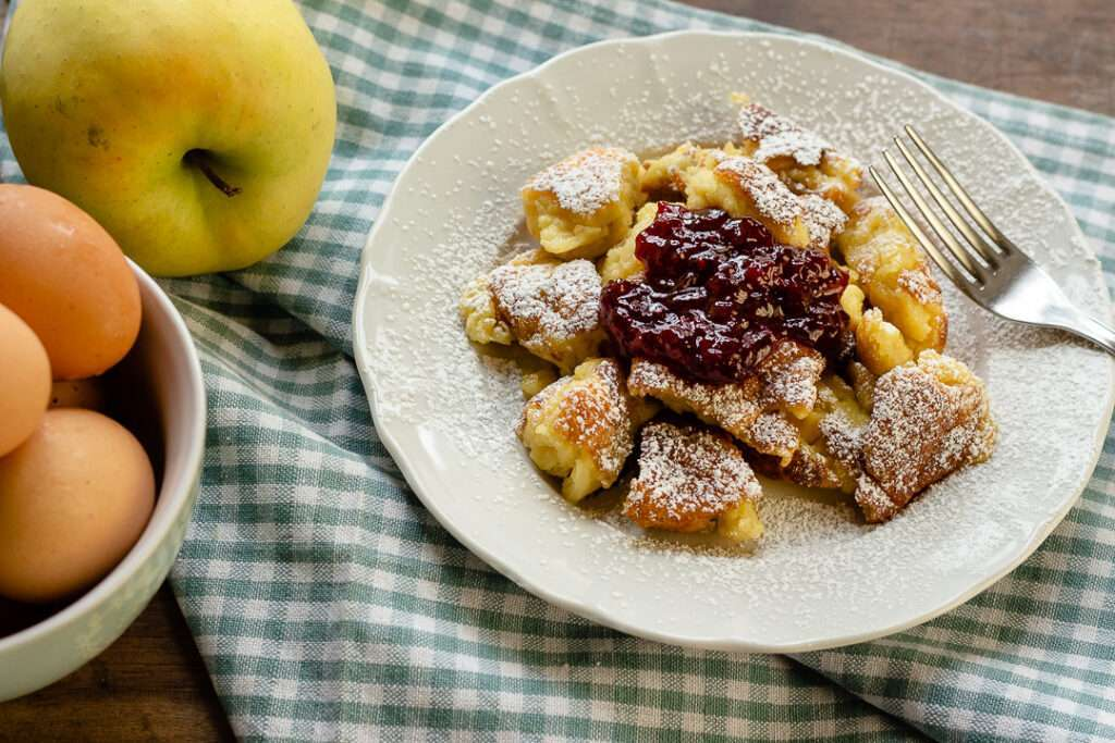 the recipe for kaisersmarrn with apples