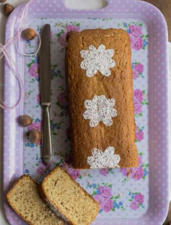 the recipe for spelt and hazelnut plum cake