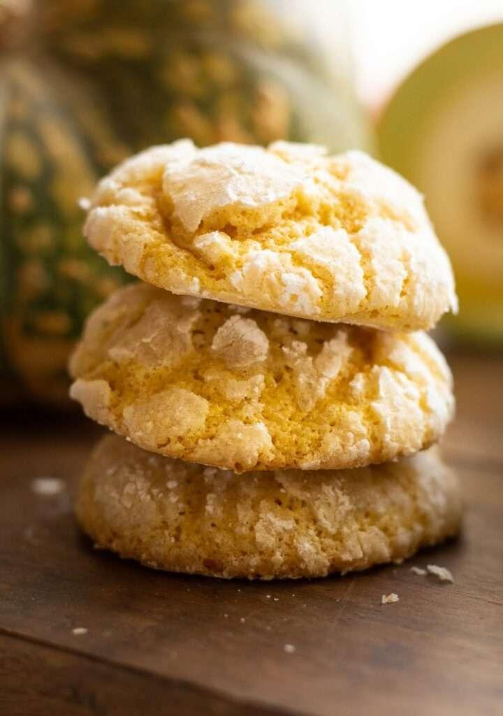 the recipe for pumpkin crinkle cookies